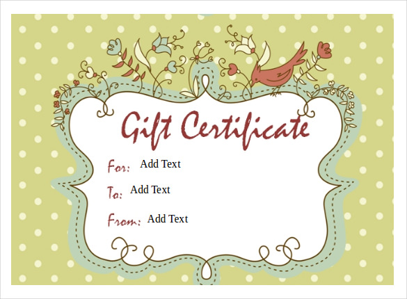 Gift Certificate Template Mac Printable Gift Certificates Template