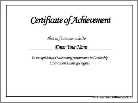 CertificateofAchievement – Blank Achievement Certificates